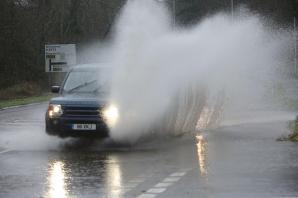 Amber weather warning as rain affects travel in West Somerset